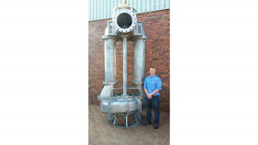 MASSIVMASSIVE The duplex stainless steel pump was designed and manufactured to pump contaminated tailings dam water back to the processing plant