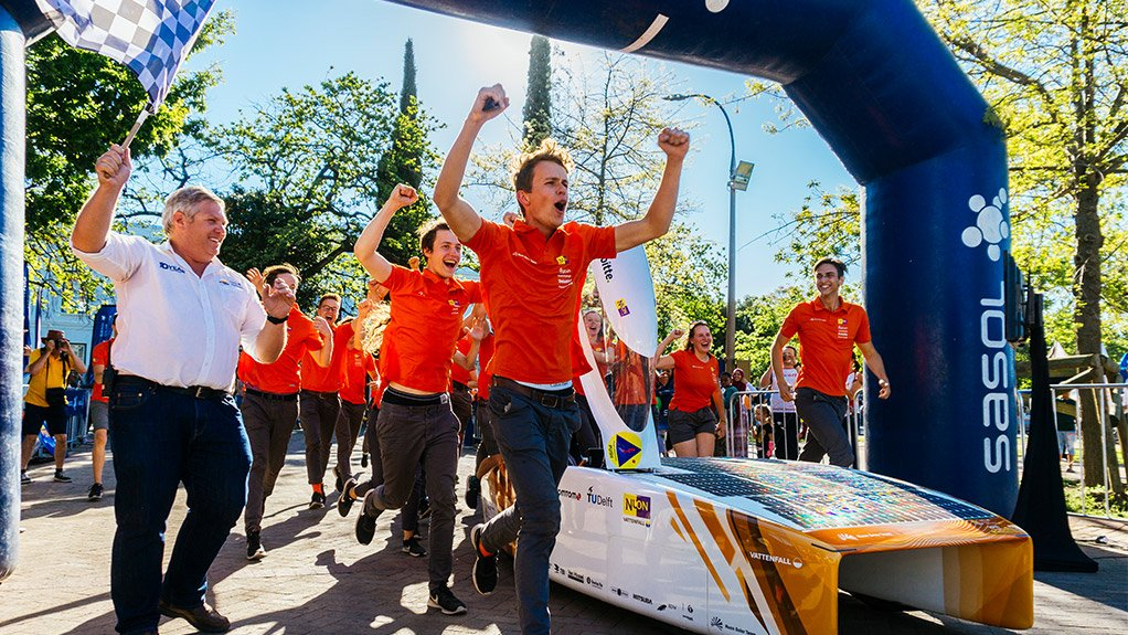 NUON TEAM Dutch team Nuon won this year's Sasol Solar Challenge
