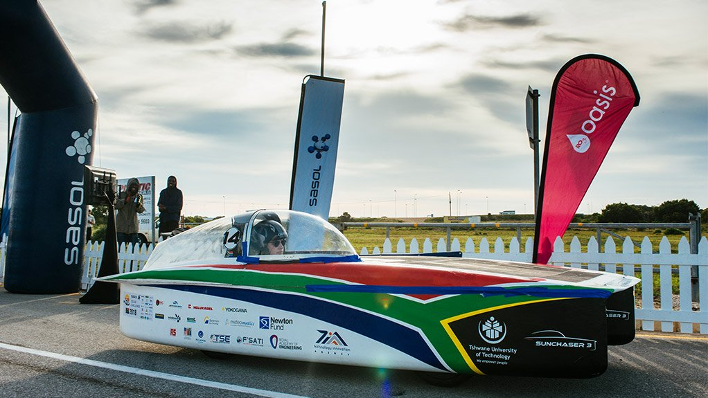 TOP LOCAL TEAM The top South African team in this year's Sasol Solar Challenge was the Tshwane University of Technology