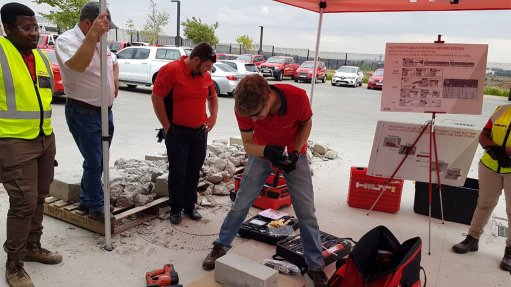 ON IT Hilti SA practitioner prepares for anchor installer training