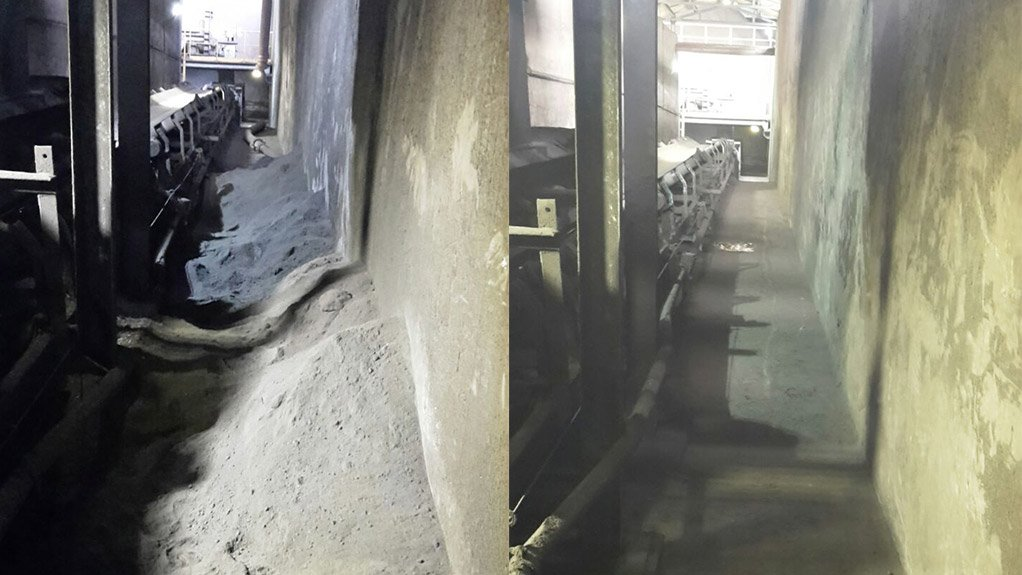 SPICK AND SPAN The after effects of a good operational clean up are seen at the smelter