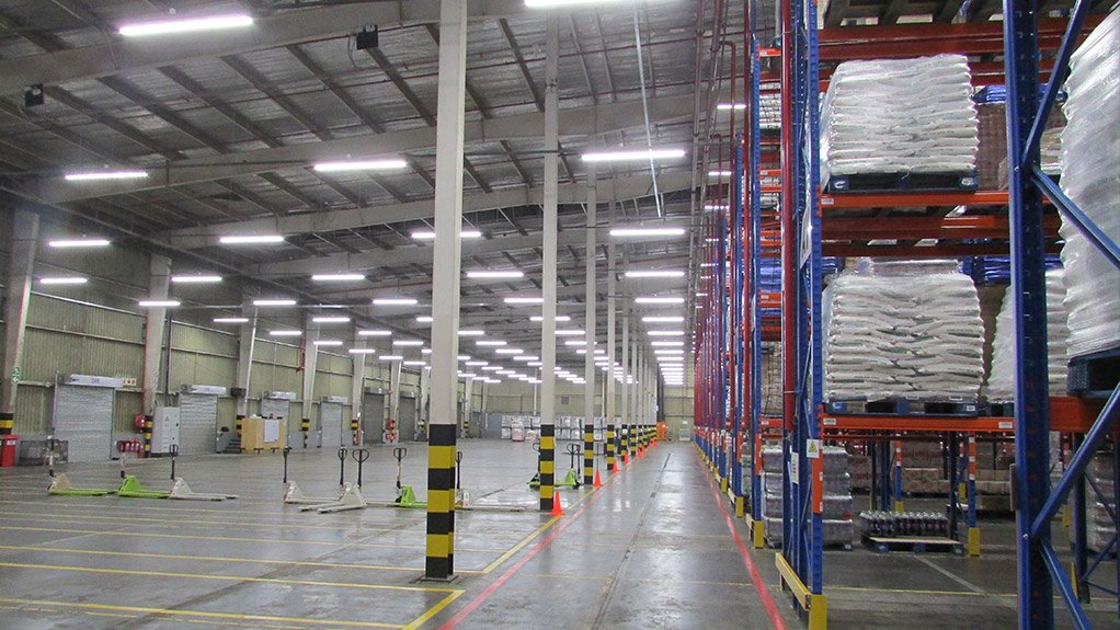 ENERGY LIGHT  Magnet's locally-manufactured MARS LED lighting system, which ensures maximum energy savings, was installed at the new Boxer Superstores distribution centre in East London