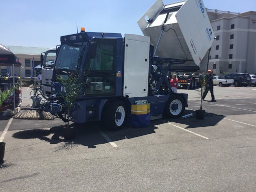 Road sweeper  showcased at Wastecon