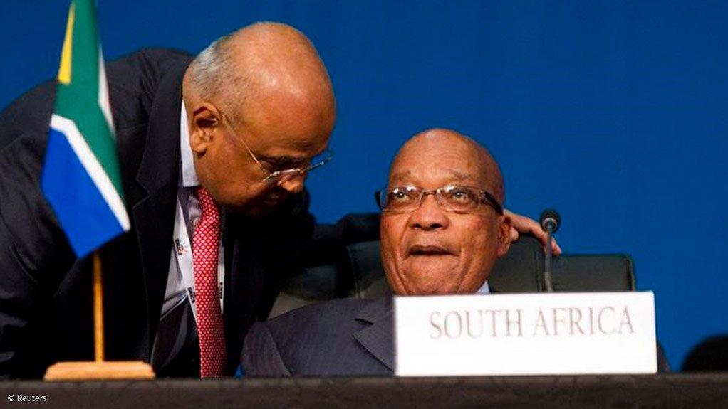 Public Enterprises Minister Pravin Gordhan & Former President Jacob Zuma