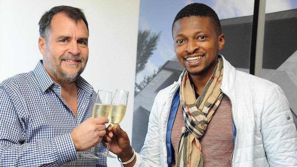 Atterbury CEO Louis van der Watt and entrepreneur Tebogo Mogashoa