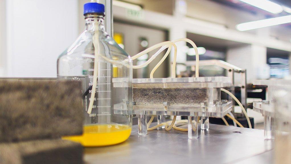 GROWING BRICKS Sand, bacteria, fertiliser and urine produce calcium carbonate bricks in any shape
