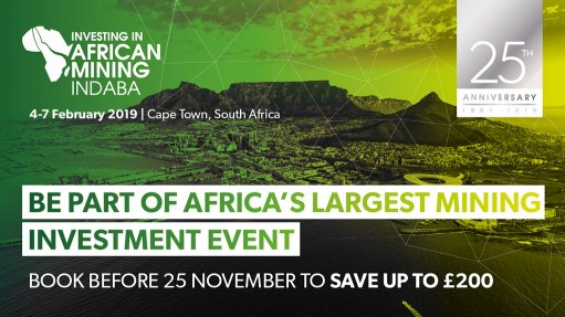 Save 10% for the 25th Anniversary edition of Investing in African Mining Indaba