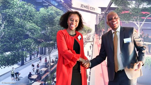 Jewel City development project marks sod-turning milestone