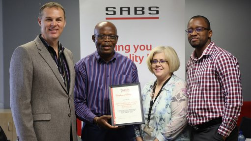 SABS laboratories awarded 20-year commendation