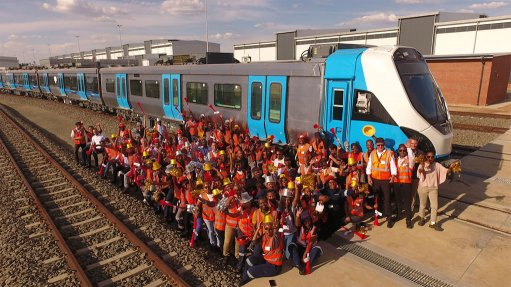 Gibela delivers its first South African made train to PRASA