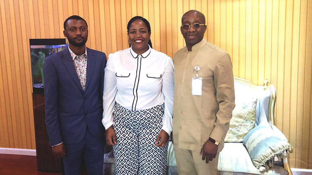 From L-R: Kaduna Power Supply Company MD Dr Abdulkareem Mayere, Linda Mabhena-Olagunju and special adviser to the governor Jimi Lawal