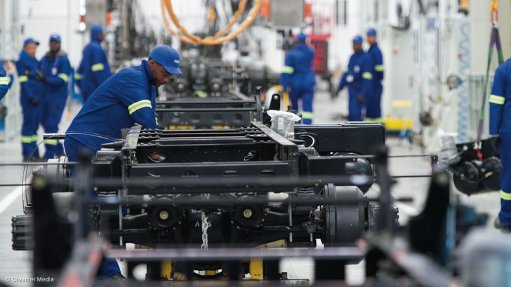 South Africa's manufacturing output jumps, boosting rand