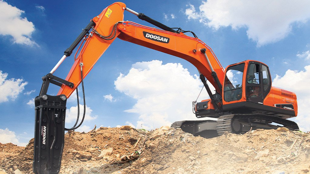 DOOSAN DX220LCA-2 EXCAVATOR Outstanding features of the excavator include lower fuel consumption and greater productivity