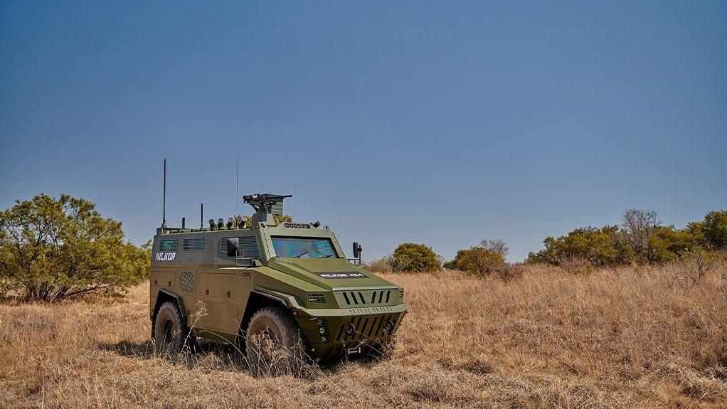 BUILT TOUGH  The Milkor 4 x 4 is designed to meet the infantry carrier requirements of armed forces on the African continent