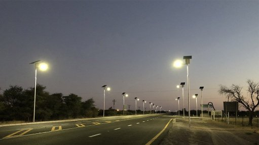 Solar streetlights installed at mine