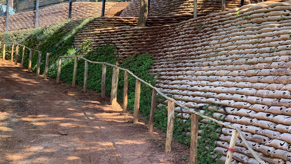 RETAINING THE GREENERY A green-wall solution was found to make retaining walls more aesthetically pleasing
