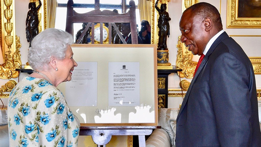 Her Majesty Queen Elizabeth II & President Cyril Ramaphosa
