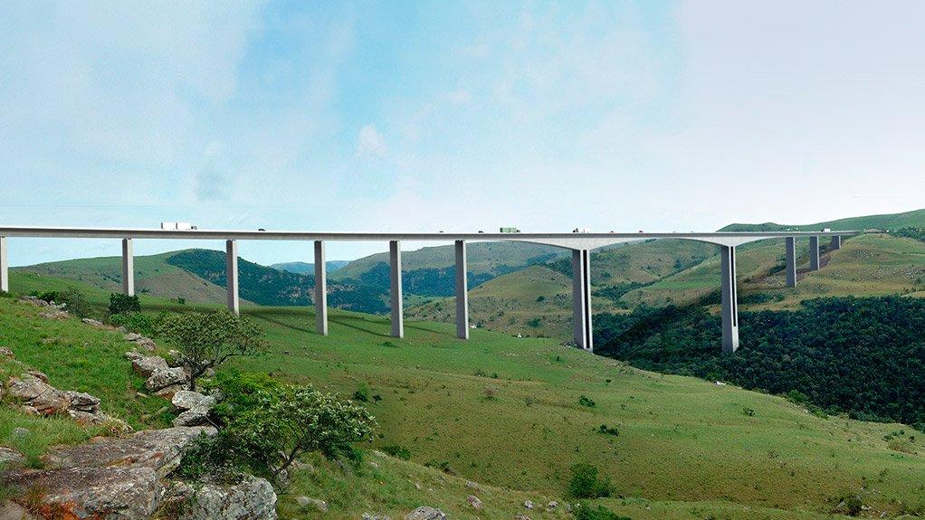 An artist's impression of the proposed Mtentu bridge