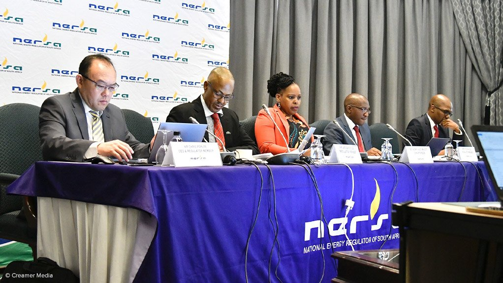 Nersa panel members listen to submissions during the marathon Gauteng leg of the regulator's nationwide public hearings process