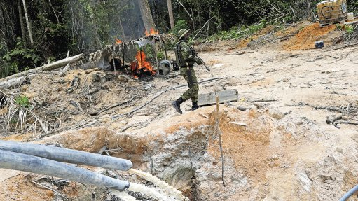 TAKING FIRE TO ILLEGAL MINING: