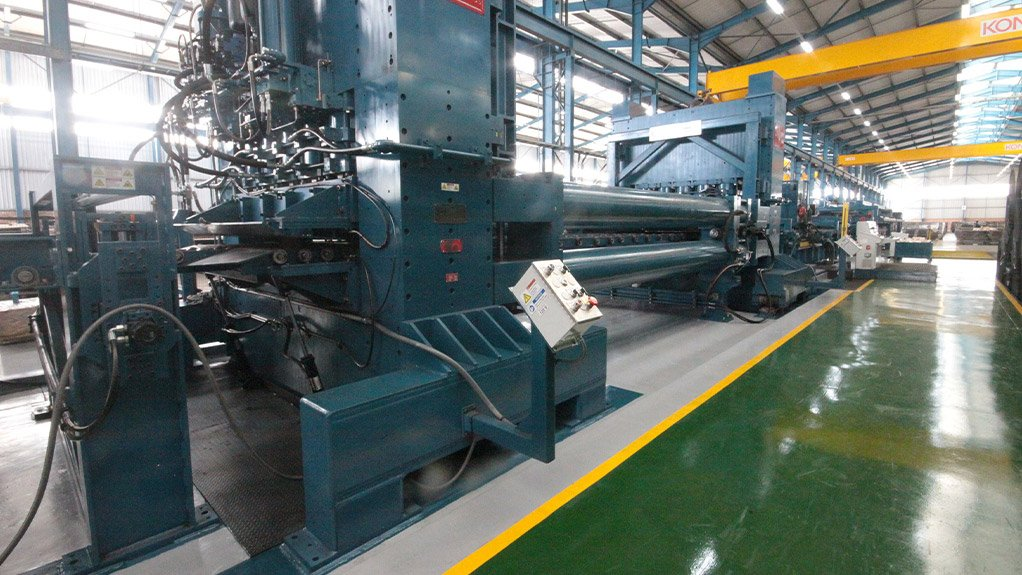 STRETCHER LEVELLER Allied Steelrode's technology investment roadmap has culminated in the installation of its second stretcher leveller at its Midvaal-based facility