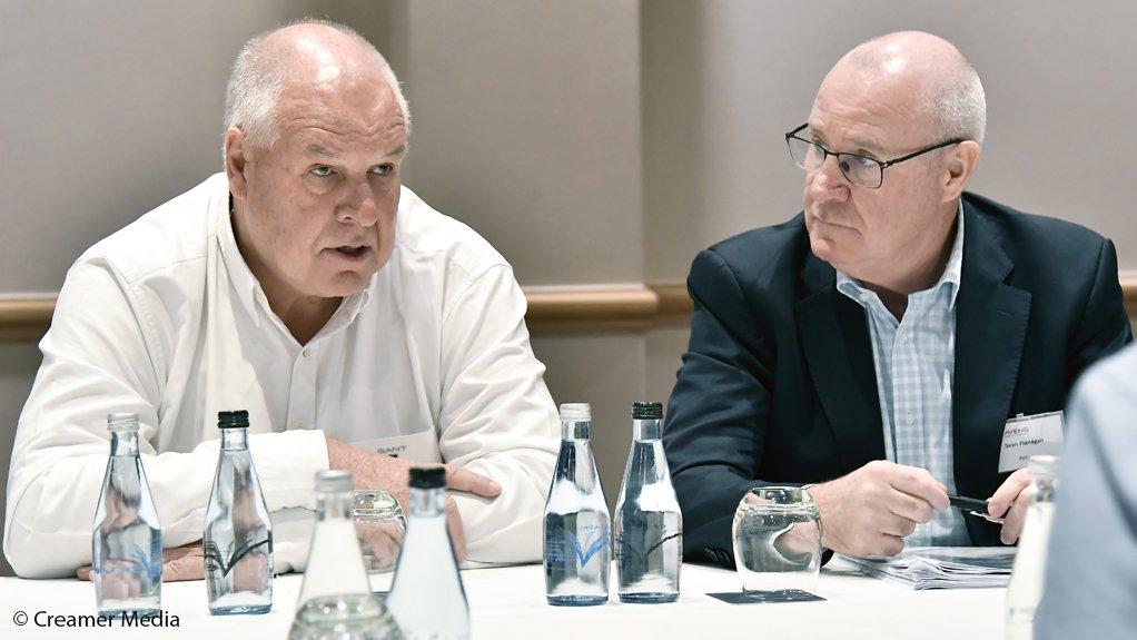 Aveng executive chairperson Eric Diack and CEO Sean Flanagan