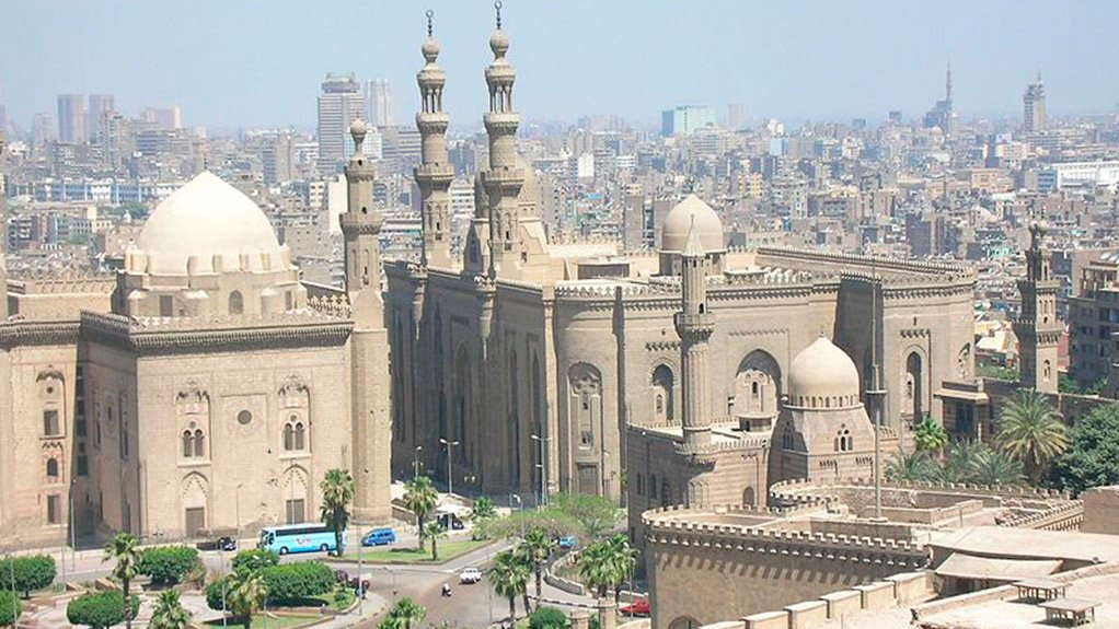 A view of Old Cairo, with the modern city in the background
