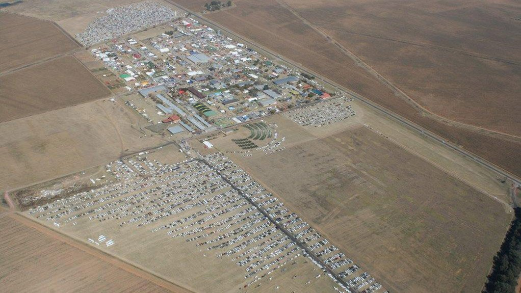 HIGH EXPECTATIONS  An aerial view of the continent's largest agriculture show being held in May