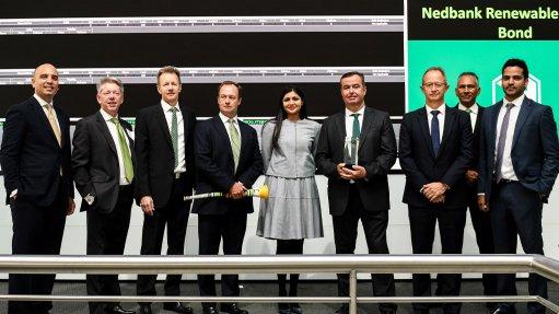 Nedbank reports 'overwhelmingly positive' response to pioneering renewable-energy bond