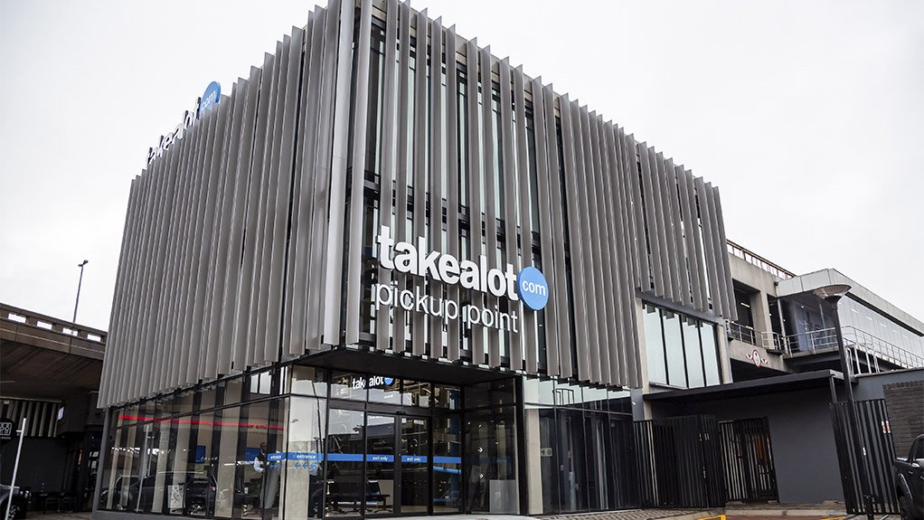 Façade of the Takealot Pickup Point at the New Road off-ramp in Midrand