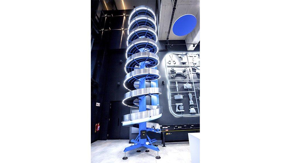 The spiral conveyer belt