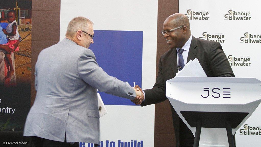 Sibanye CEO Neal Froneman and Lonmin CEO Ben Magara