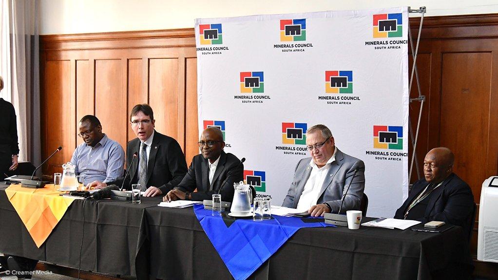 Andile Sangqu, Roger Baxter, Mxolisi Mgojo, Neal Froneman and Steve Phiri