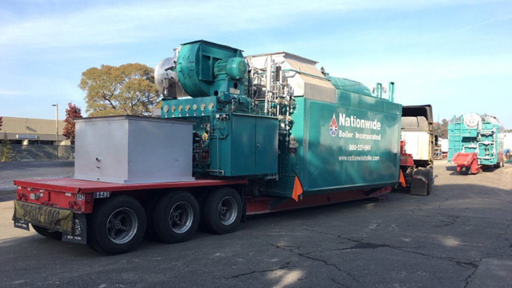 TAKE AWAYS The mobile boilers took seven days to travel over 1 600 km to the customer's site