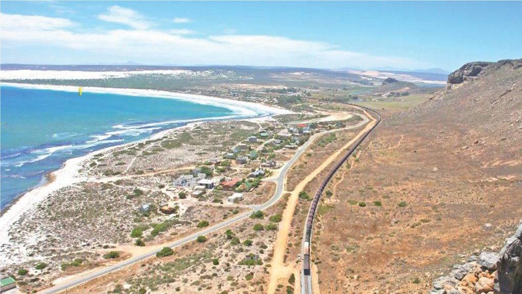 4 km long train on the iron ore export line near Elands Bay