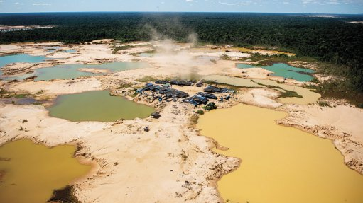 ILLEGAL MINING DECIMATING RAINFOREST: