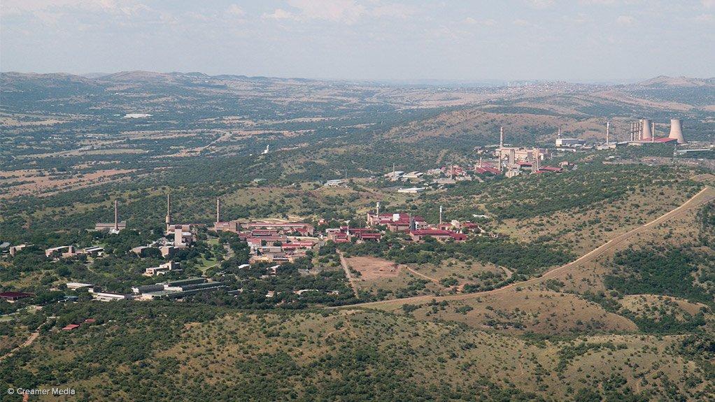 An aerial view of Necsa's Pelindaba complex, west of Pretoria/Tshwane
