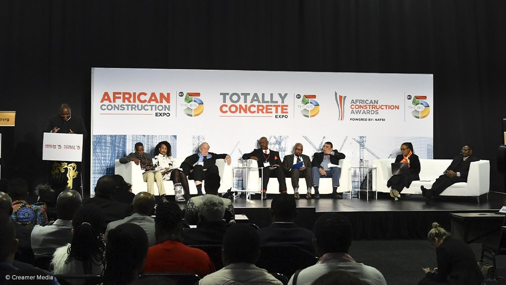 A panel of construction industry body representatives at Africa Construction Expo 2019