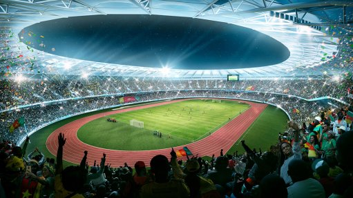 TRACK RECORD The stadium was built in record time as a multifaceted sporting facility and arts and culture hub