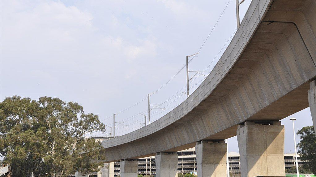 BRIDGING THE GAP Building bridges for the Gautrain are but a few projects in Nyeleti's portfolio