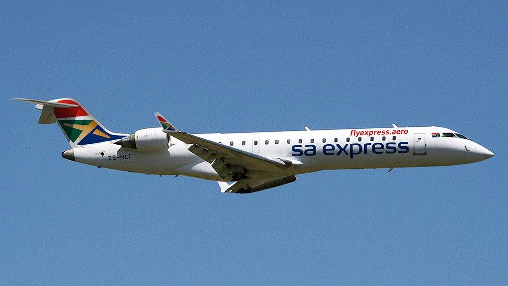 A CRJ-700 of SA Express