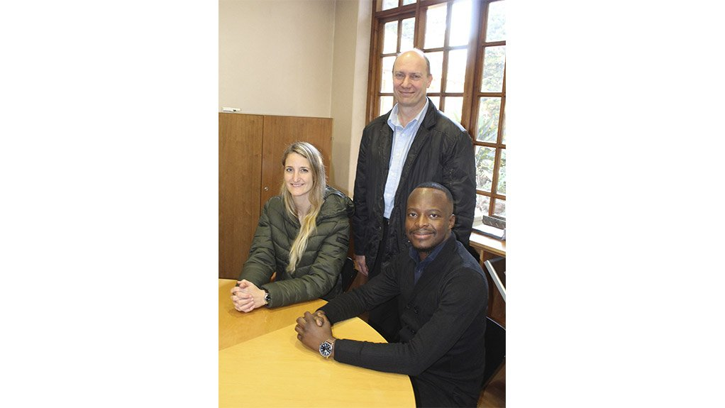NEW ON BOARD Newly elected chairperson, Nicolette Skjoldhammer with CEO Paolo Trinchero and board member Tebogo Raaleka