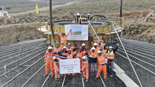 Perdekraal East Wind Farm turbine foundations completed ahead of schedule