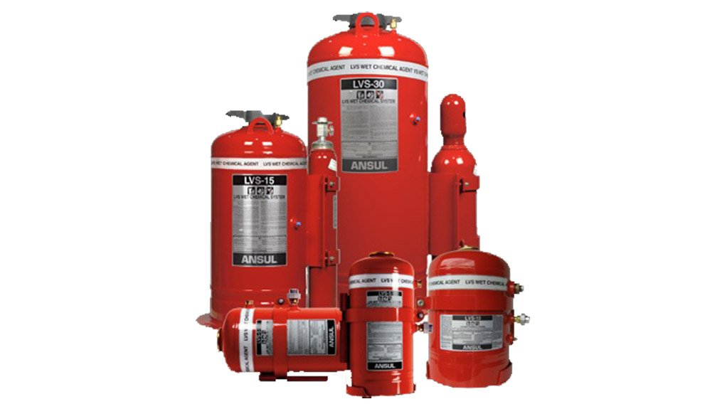 FIRE SUPPRESSION The Ansul Liquid Vehicle Suppressant liquid agent fire suppression system is designed to rapidly suppress fires in mobile equipment