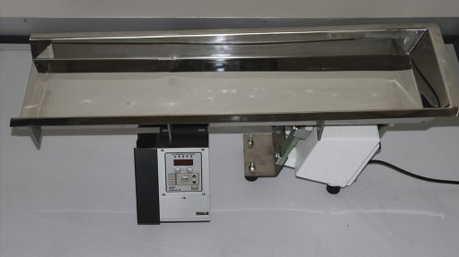 GOOD VIBRATIONS The electromagnetic feeder requires only one drive and is quieter than other drives on the market
