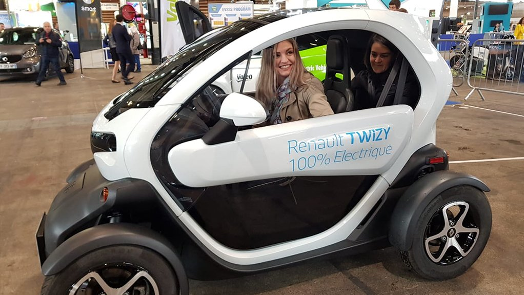 SLUGGISH UPTAKE South Africa is lagging year-on-year in the adoption of electric vehicles compared with the global average. Pictured in the driver's seat is United Nations Industrial Development Organisation South African regional office project assistant for energy efficiency Nikola Niebuhr