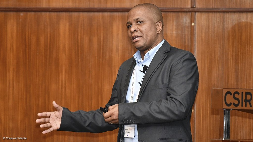 Transnet National Ports Authority research and development senior specialist Thamsanqa Basi
