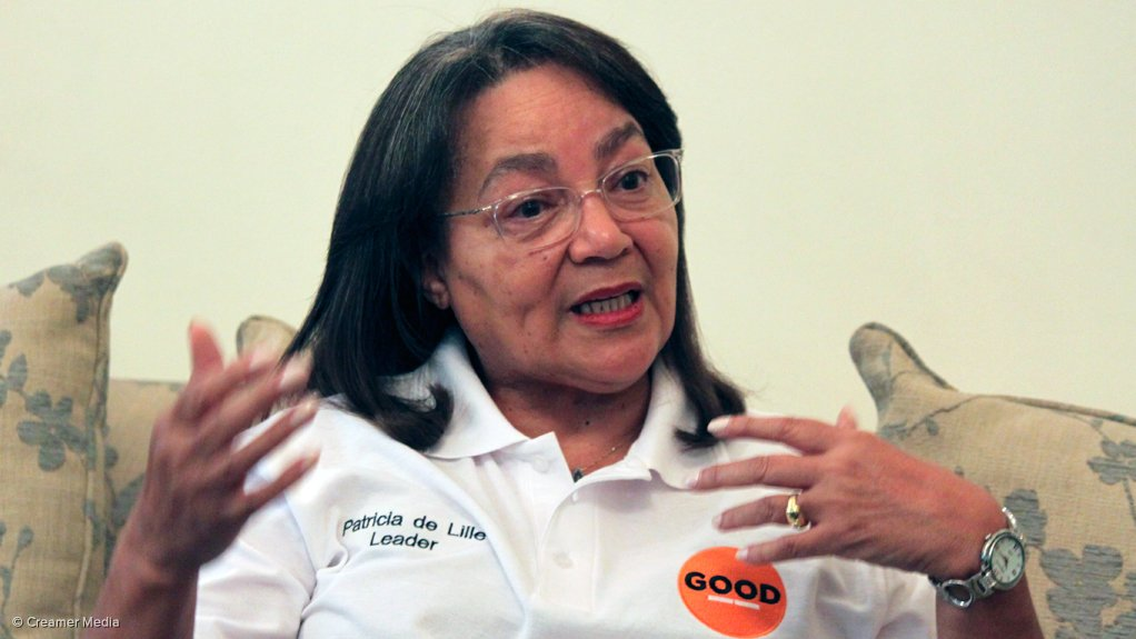 Public Works and Infrastructure Minister Patricia de Lille