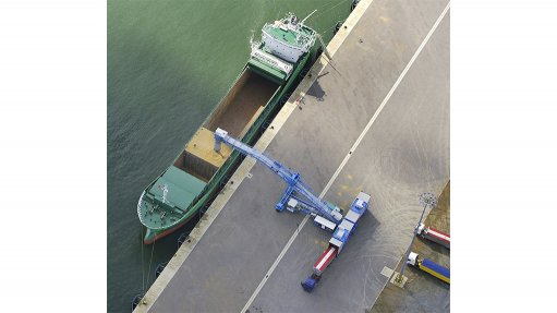 SHIPLOADING A mobile shiploader, combined with the benefits of a receiving unit, offers a more viable alternative to fixed conveyor installations