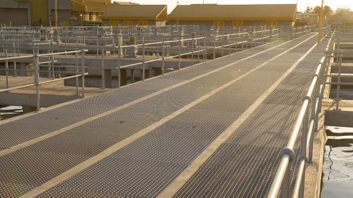 Mentis grating and handrailing beat corrosion in wastewater industry